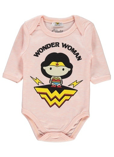 Civil Baby Wonder Woman Kiz Bebek Çitçitli Badi 0-24 Ay Somon Wonder Woman Kiz Bebek Çitçitli Badi 0-24 Ay Somon Somon
